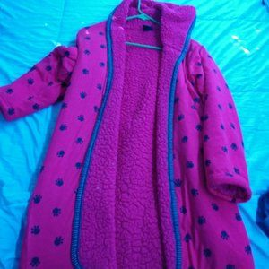 Other - Sherpa Paw print robe